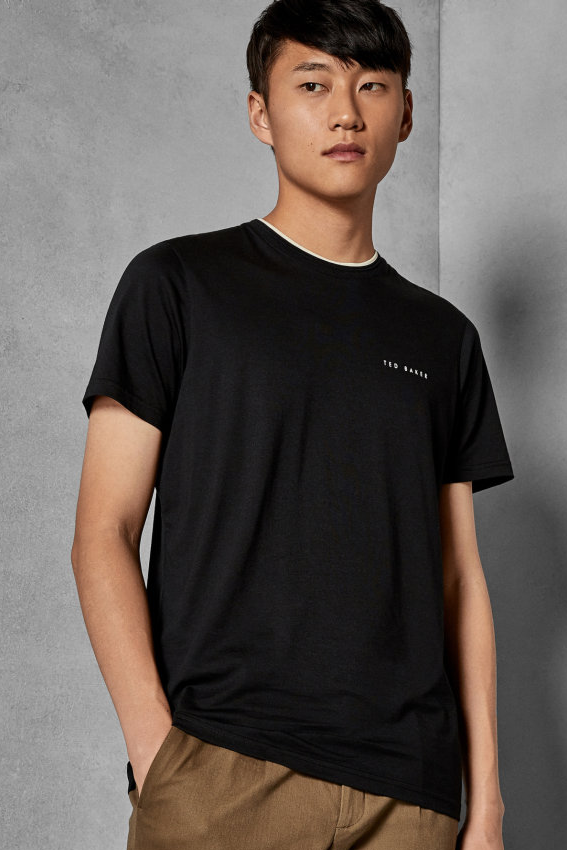 Ted Baker S/S ROOMA BRANDED TEE Black