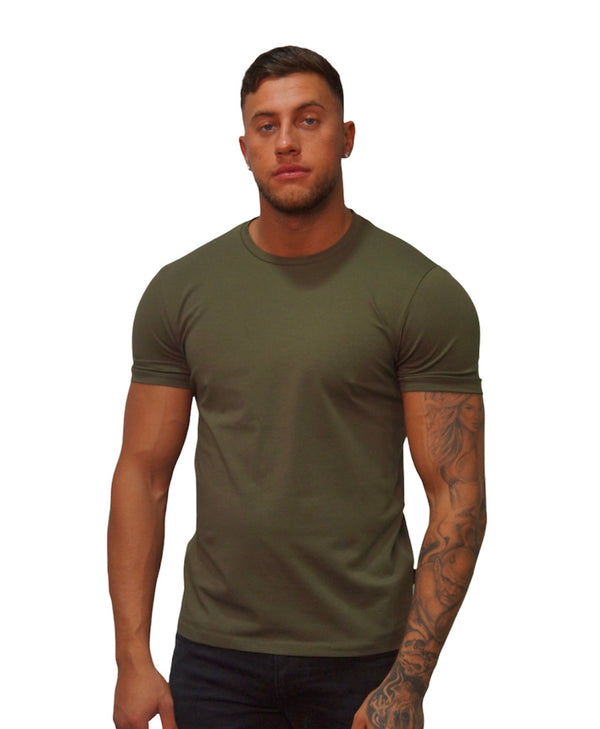 SSEINSE S/S PLAIN ESSENTIAL TEE Militery