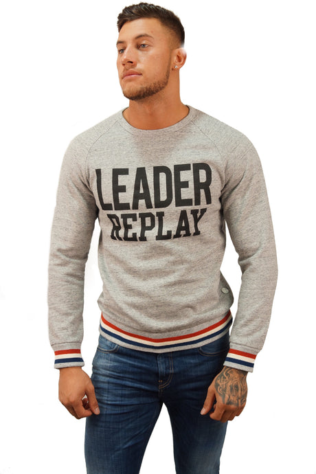 Replay Jeans LEADER CREW NECK SWEAT Grey
