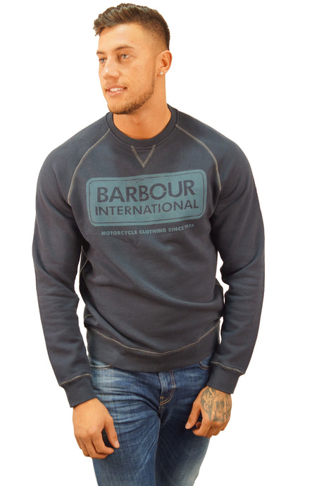 Barbour B. INTL LOGO SWEATER Navy