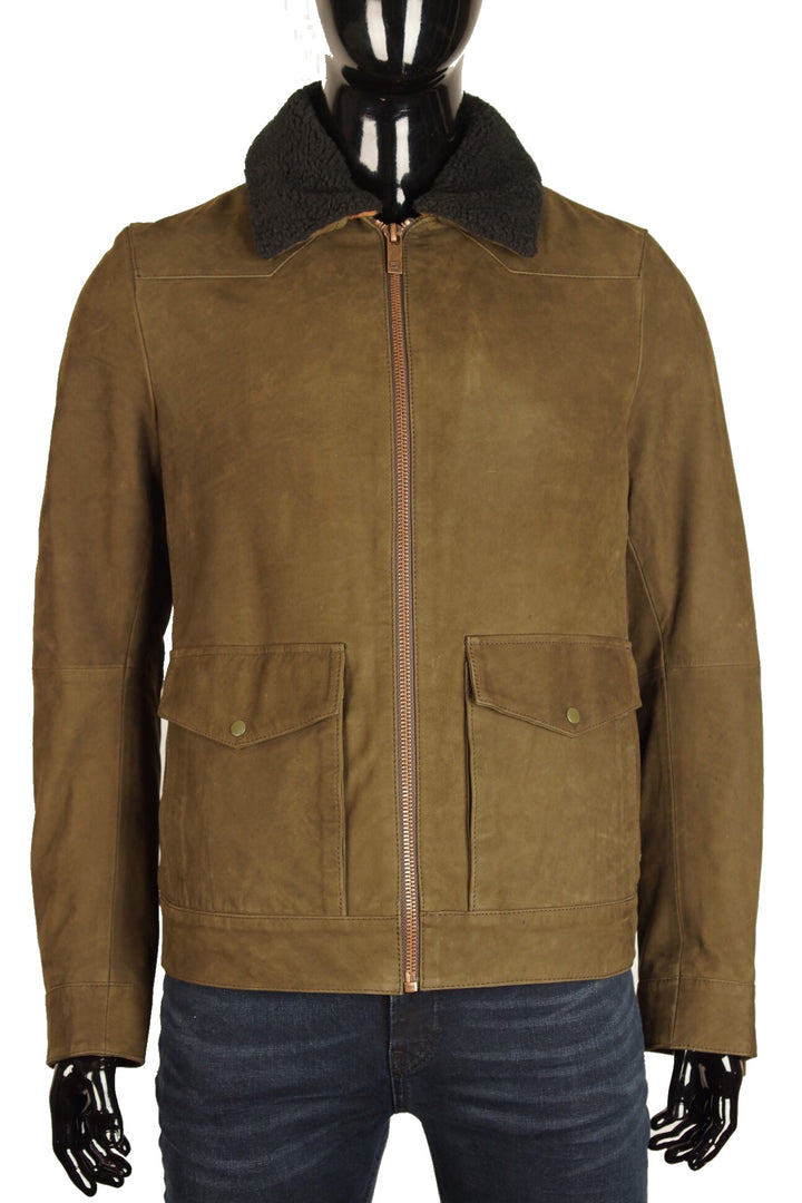 Scotch & Soda CLASSIC NUBUCK JACKET Militery