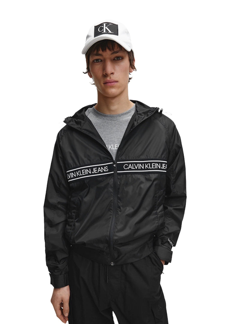 CALVIN KLEIN NYLON TAPE LIGHT JACKET Black