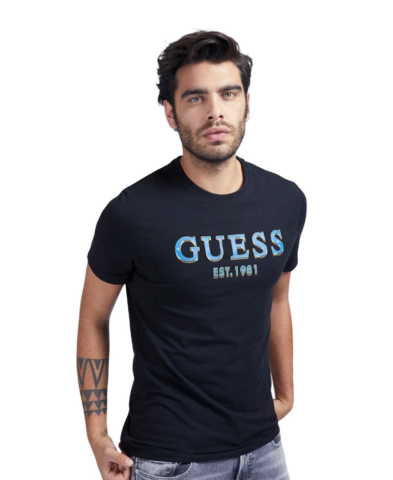 GUESS S/S BRAKE CN LOGO TEE Black
