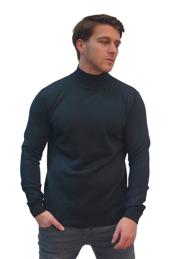 SSEINSE HIGH NECK KNITTED JUMPER Black
