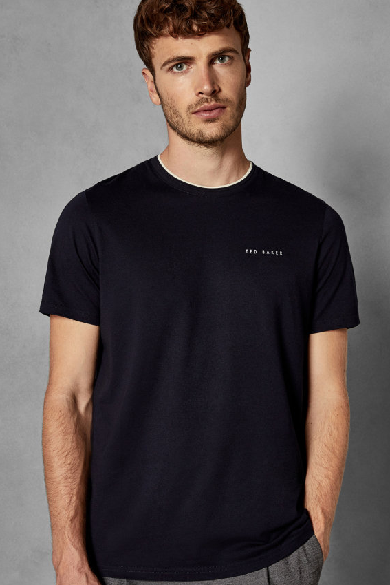 Ted Baker S/S ROOMA BRANDED TEE Navy