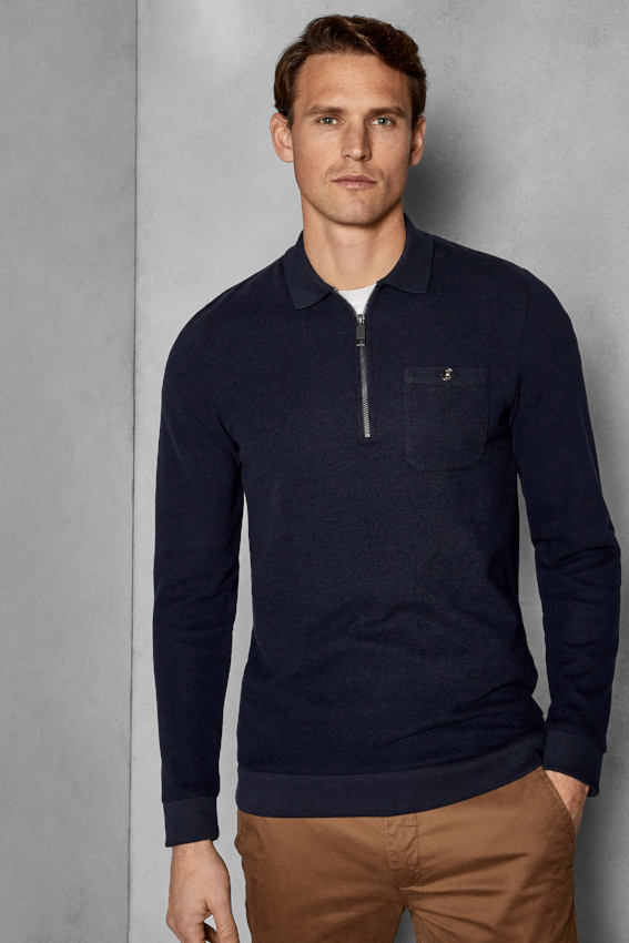 Ted Baker L/S DISTRES LAYERING TOP Navy