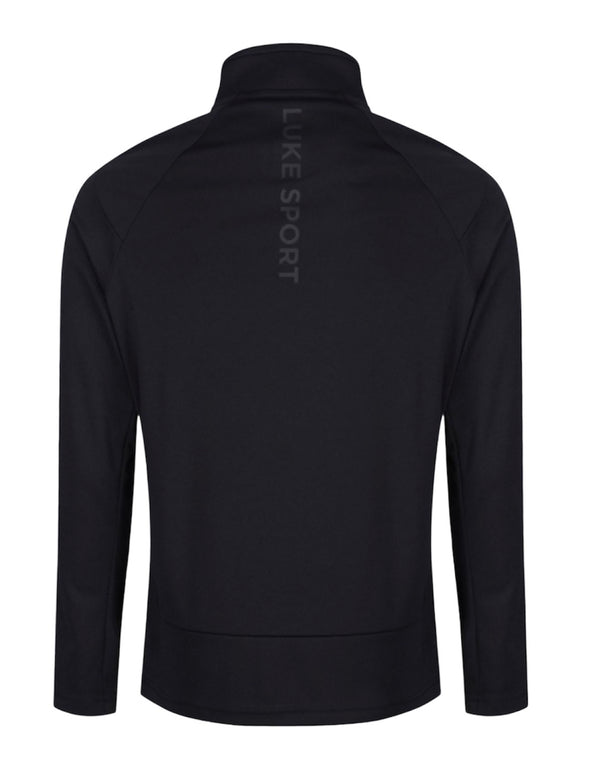 Luke 1977 INDICATOR FUNNEL NECK ZIP UP Black