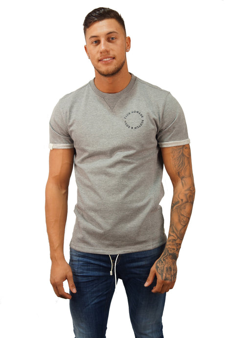 Scotch & Soda S/S HEAVY WEIGHT TEE Grey