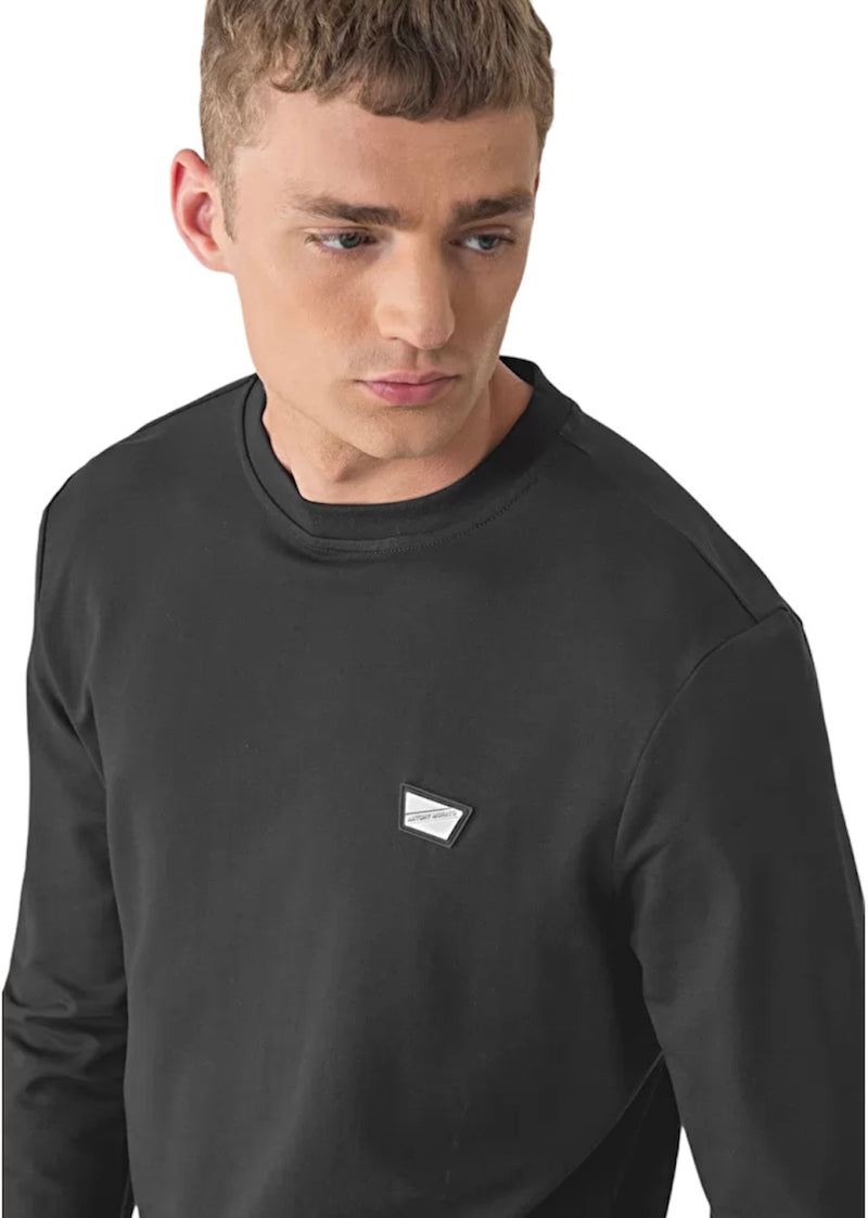 Antony Morato CREW NECK PLAQUE SWEATER Black