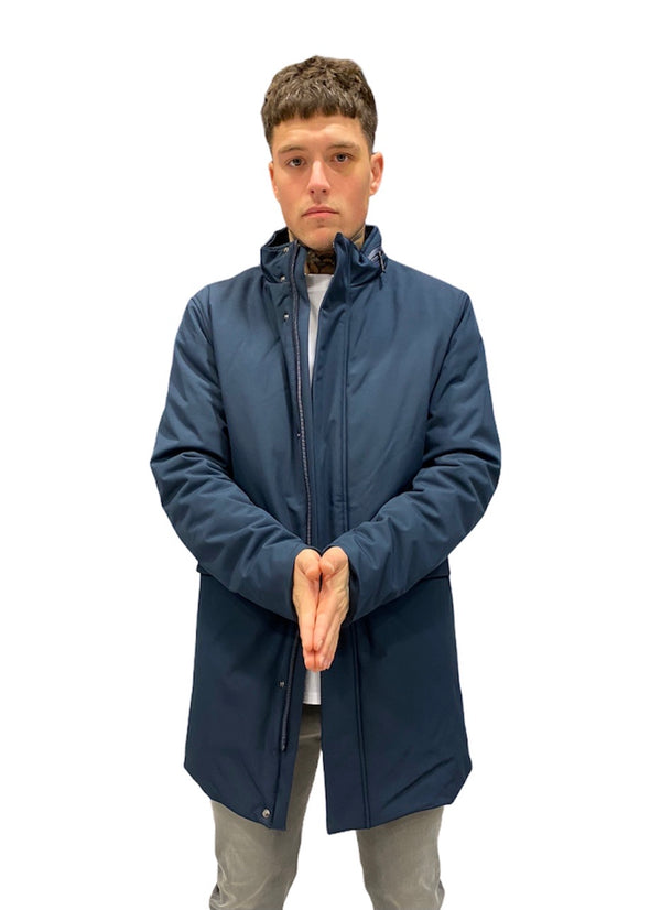 SSEINSE SMART PADDED COAT Navy