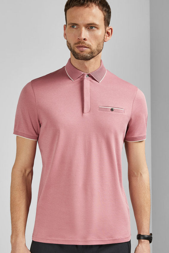 Ted Baker S/S FINCHAM POLO TEE Pink