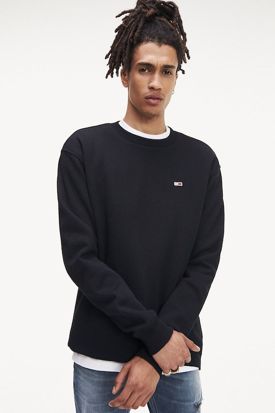 TOMMY HILFIGER TOMMY CLASSICS CREW SWEAT Black