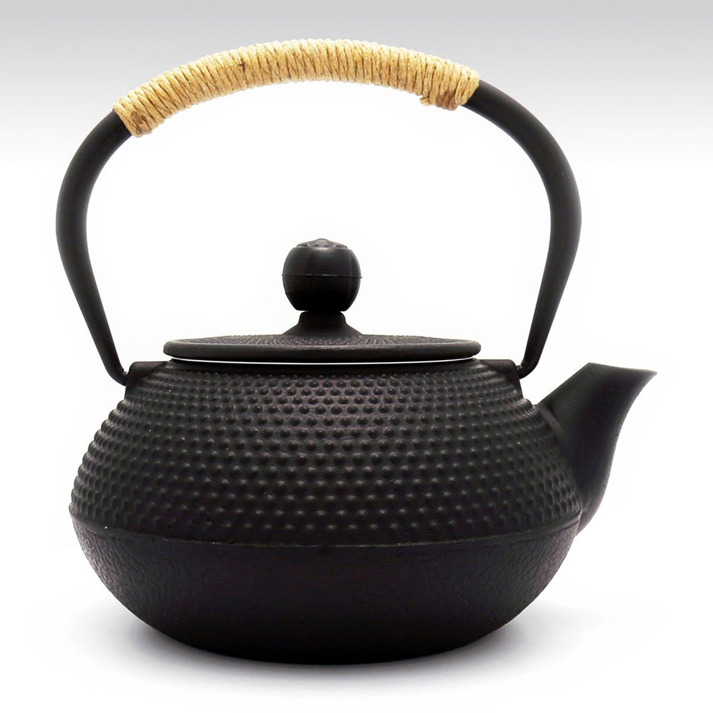 Coffee & Tea Wares - 32 Ounce Cast Iron Hobnail Teapot In Matt Black