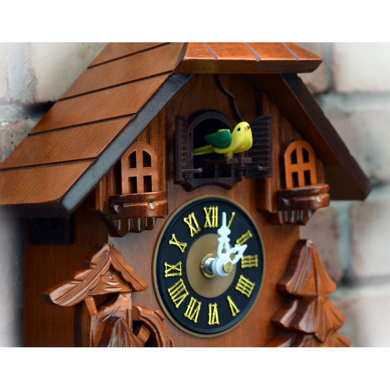 Cuckoo Clock With Wood Carving Amp Birds Chirping On Hour
