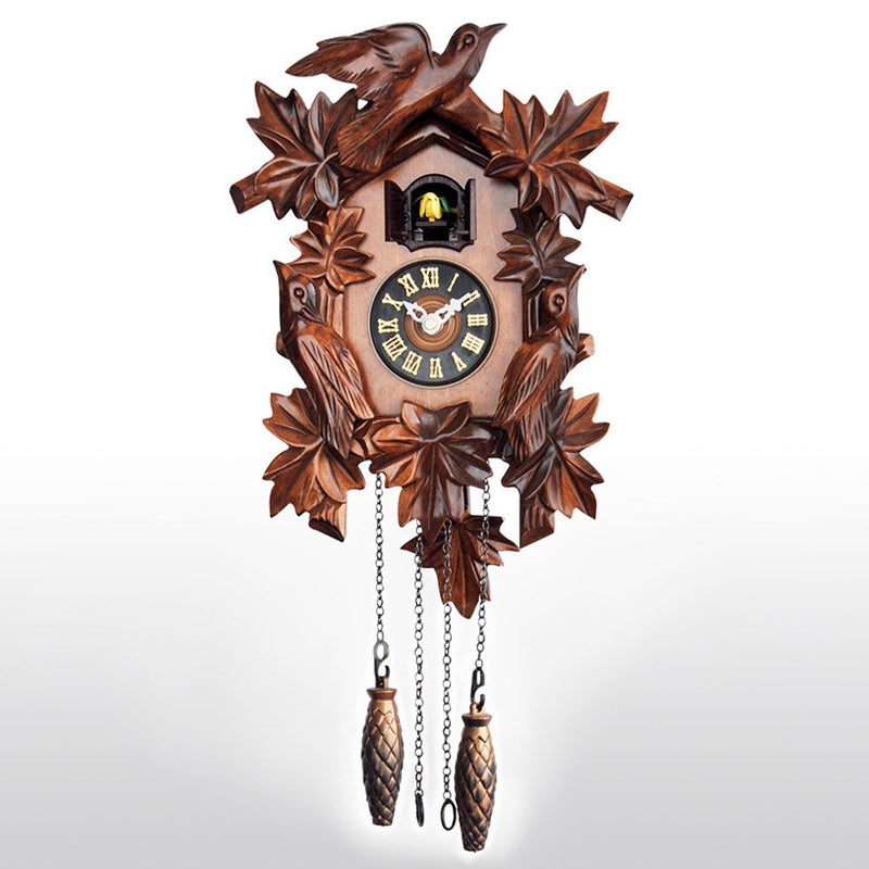 Cuckoo Clocks - Handcrafted Wooden Cuckoo Clock With Bird Chirping On Hour