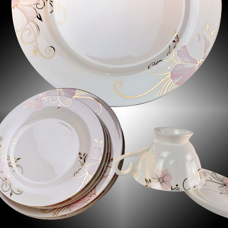 Fine Bone China Dinnerware Set 24 Piece Service For 4