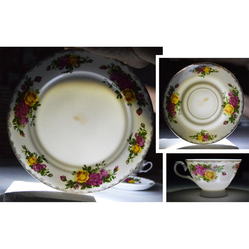 Dinnerwares, Featured Products - Bone China 24 Piece Dinnerware Set English Rose Designs, Service For 4
