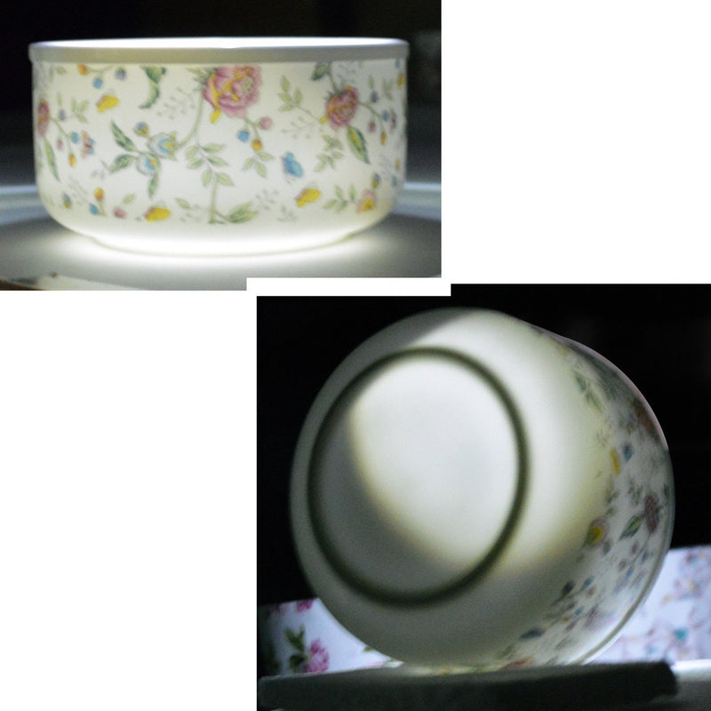 Dinnerwares. Featured Products - Fine Bone China Microwave Bowls With Silicone Lid Rose Patterns Set Of 3