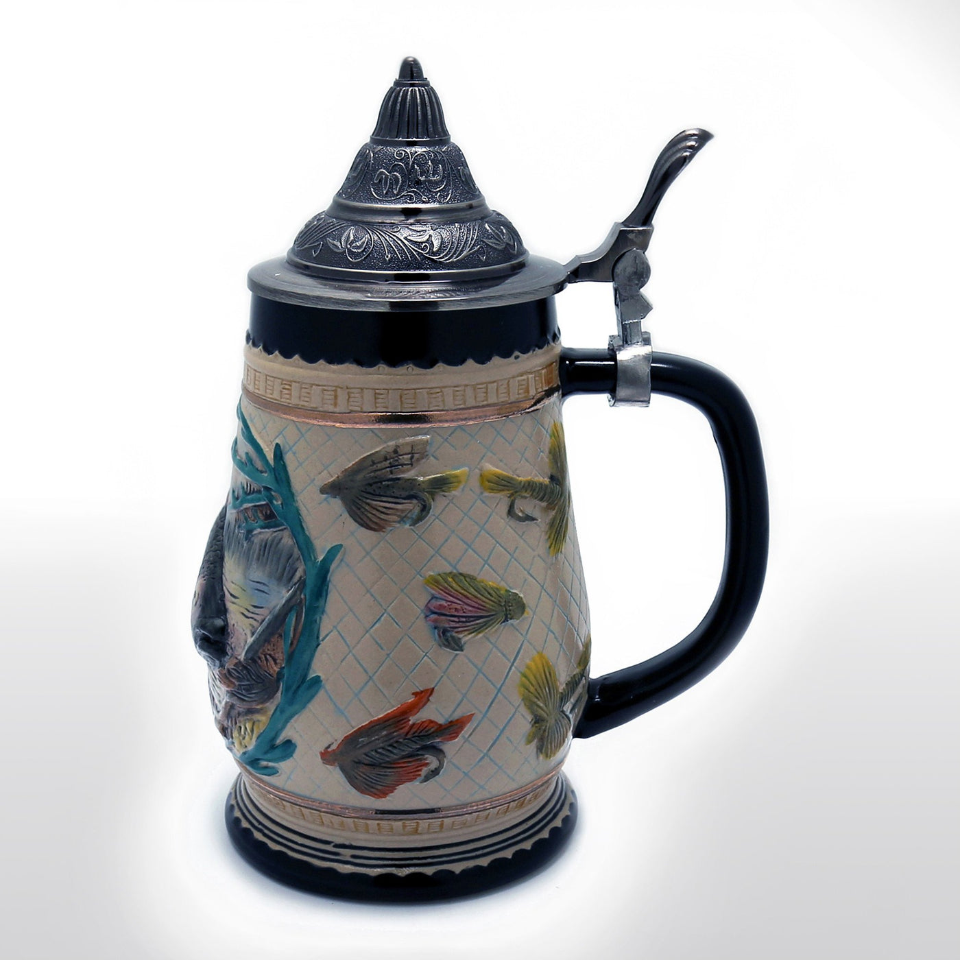 German Style Beer Stein With Metal Lid 0 85 Liter Ocean
