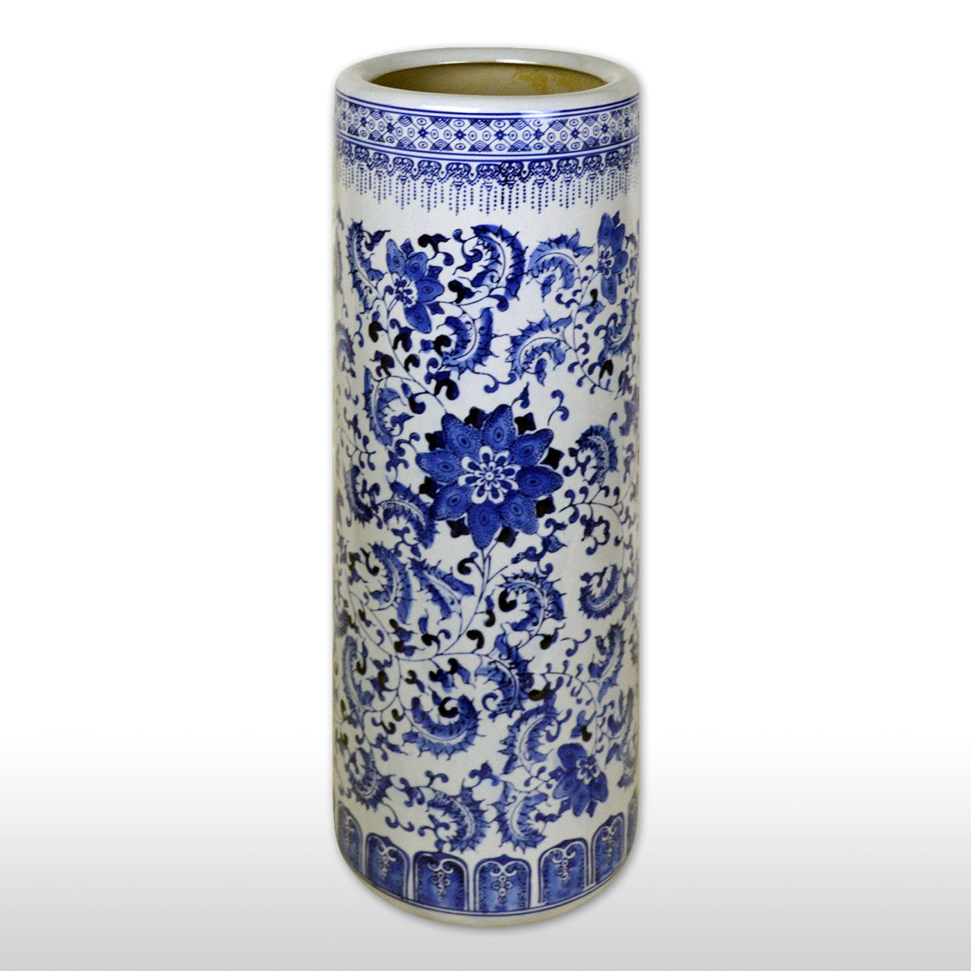 Oriental porcelain umbrella stand in blue and white 24 floral vases jars featured products 24 chinese classic blue and white porcelain umbrella reviewsmspy