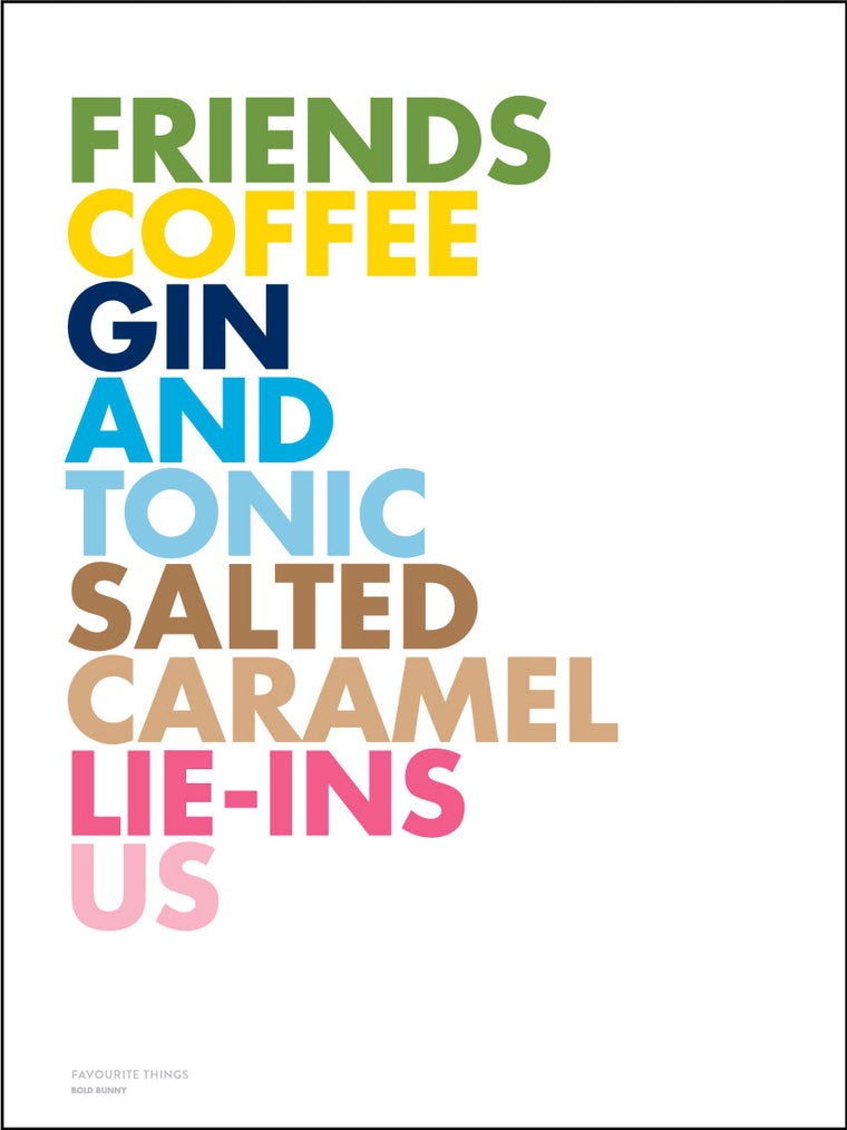 Favourite Things GIN edition