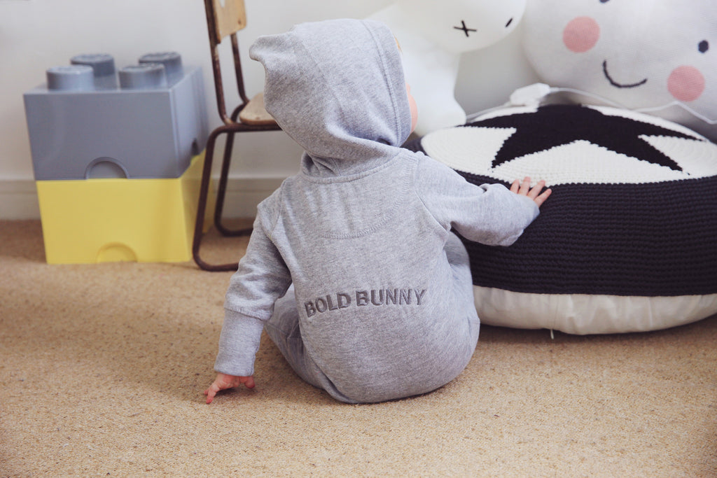 Grey Hooded Onesie
