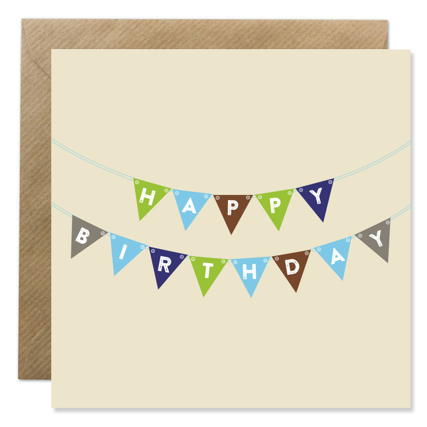 Birthday Bunting Blue