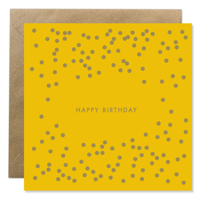 Birthday Dots - Gold Foil