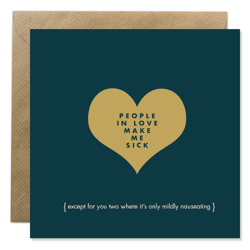 People In Love - Gold Foil