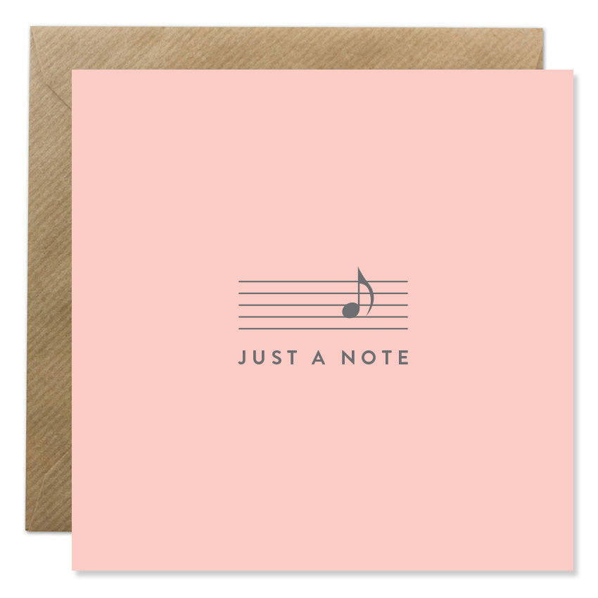 Just A Note Blush Pink