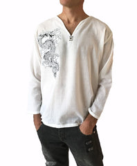Men's Dragon Shirt cotton