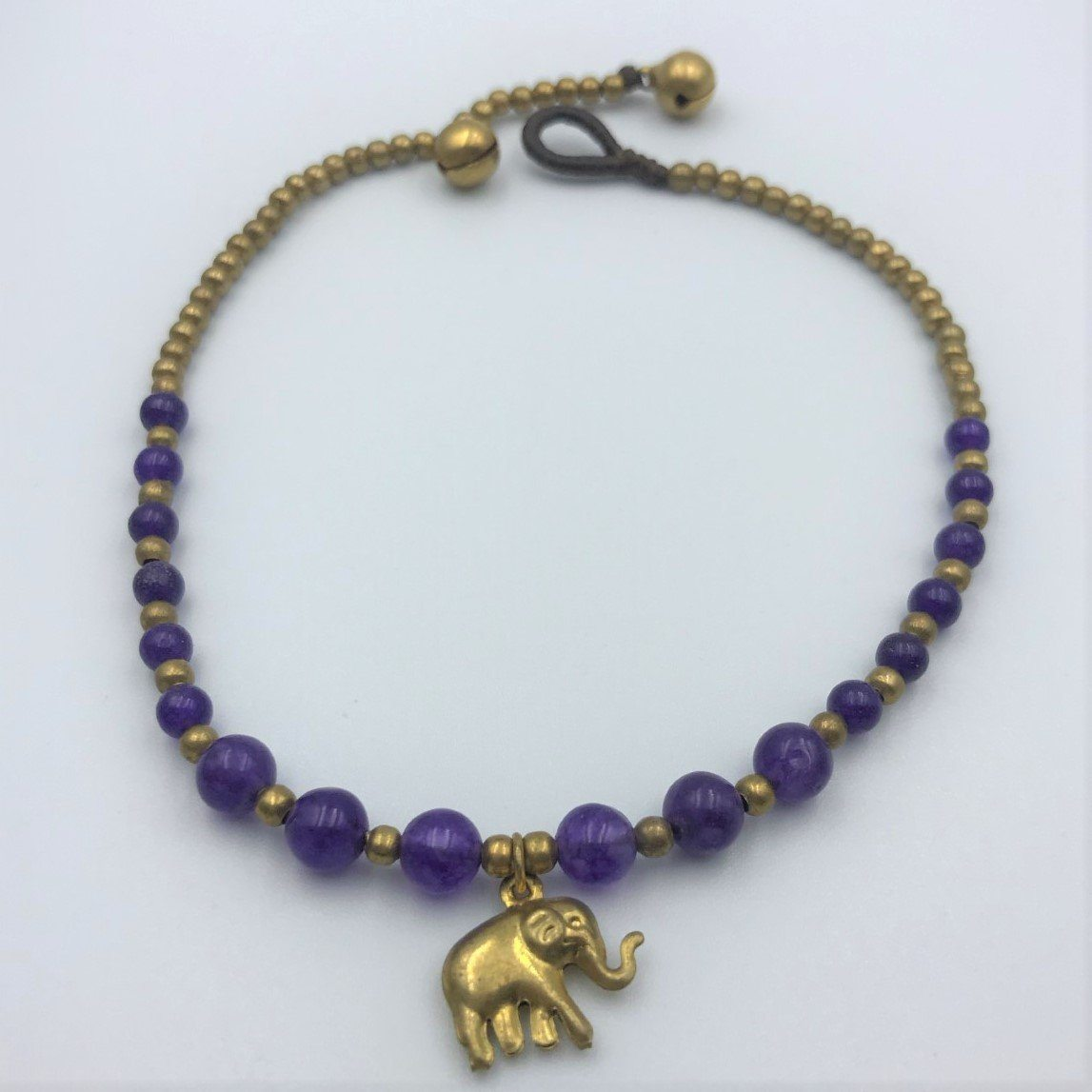 Anklet - Purple Stone Beaded Anklet Ankle Bracelet