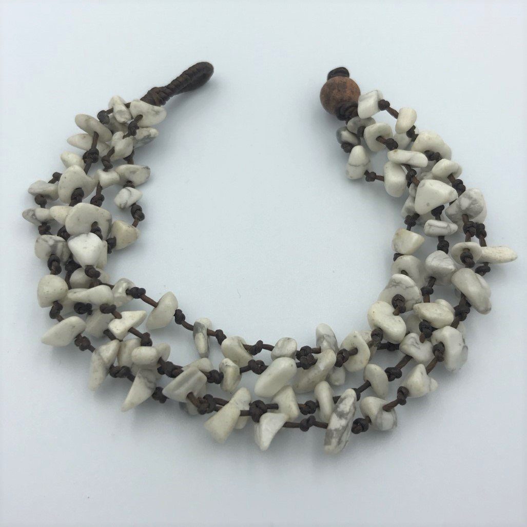 Bracelets - White Rough Stone Hippie Bracelet