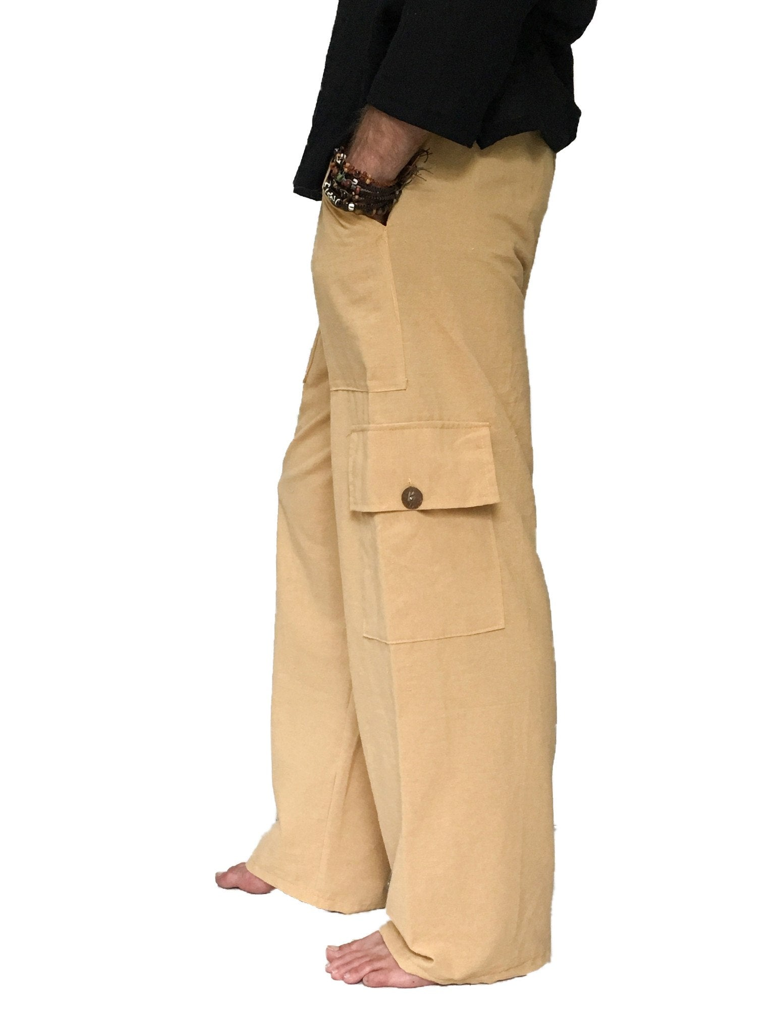 Men's Wear - Men's Cargo Pants 100% Cotton One Size