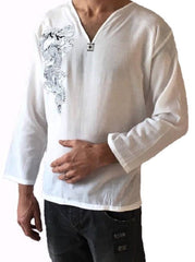 Men's Light Weight 100% Cotton Dragon Shirt