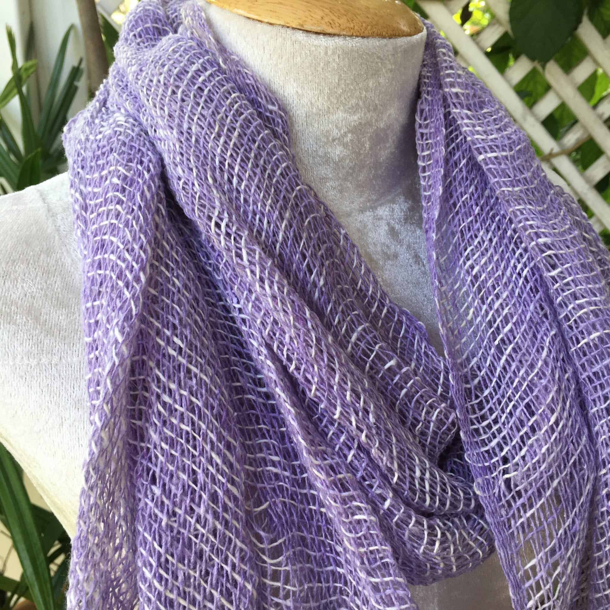 Scarf - Thai Organic Cotton Soft Hand Woven Scarf Shawl