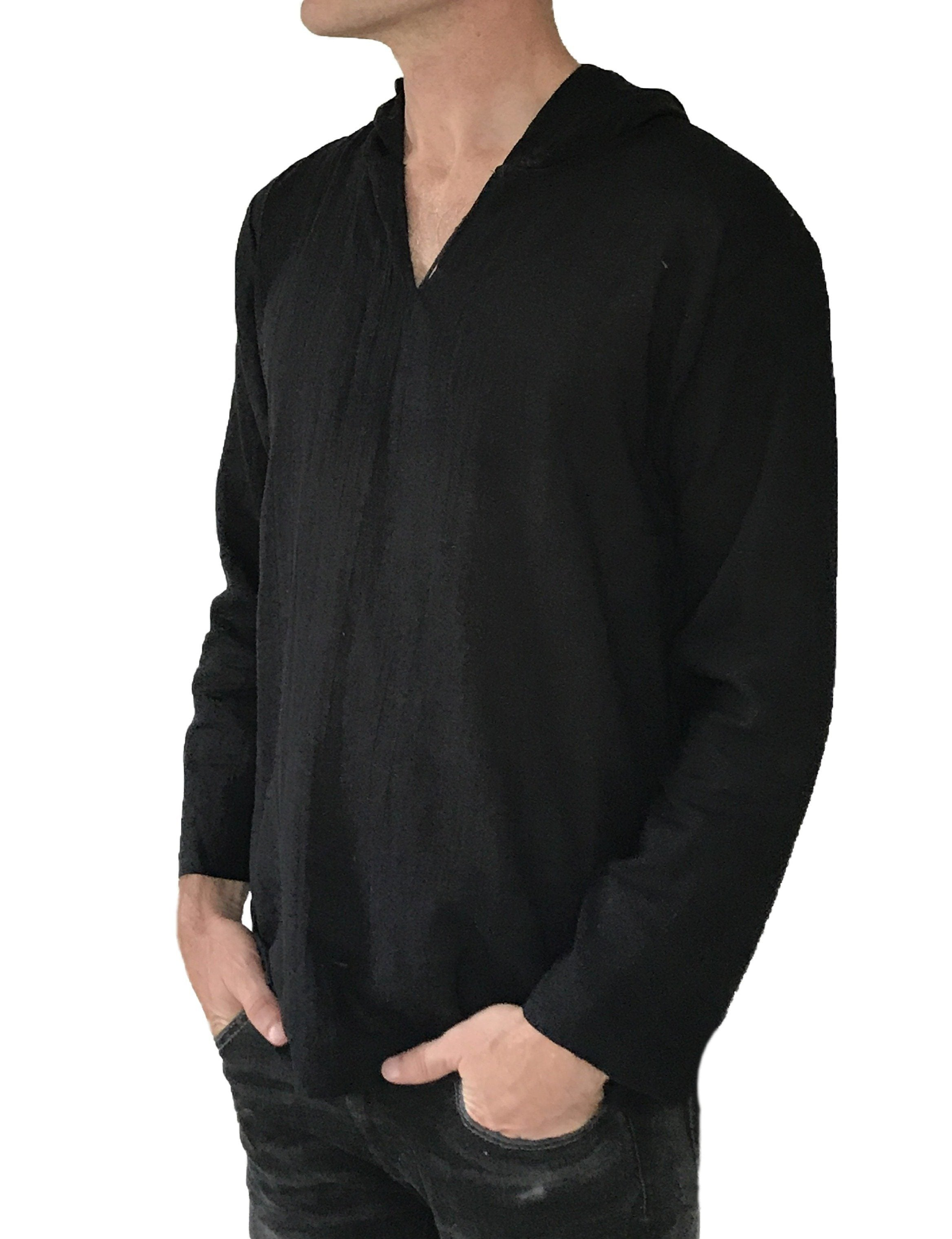 Shirt - Men's Cotton Hoodie Shirt