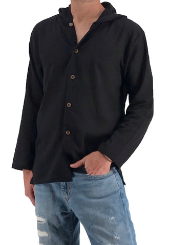 Shirt - NEW Men's Hoodie Button Down Hippie Shirts