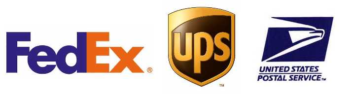 We ship with UPS, FedEx and USPS
