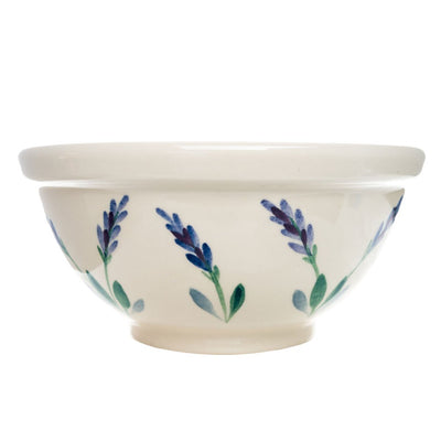 Handmade and handpainted decorative ceramic serving bowl made in USA
