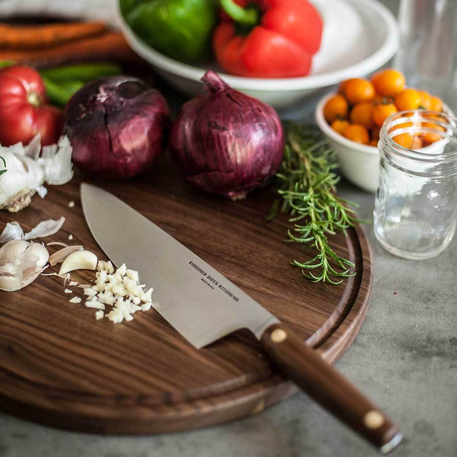 8 Inch Stainless Steel Chef Knife with Rosewood Handle