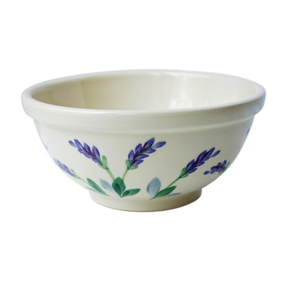 Stoneware Soup, Salad and Pasta Serving Bowl with Lavender Design Made in USA