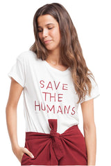 ThinkingMU Save the humans tee | Sophie Stone
