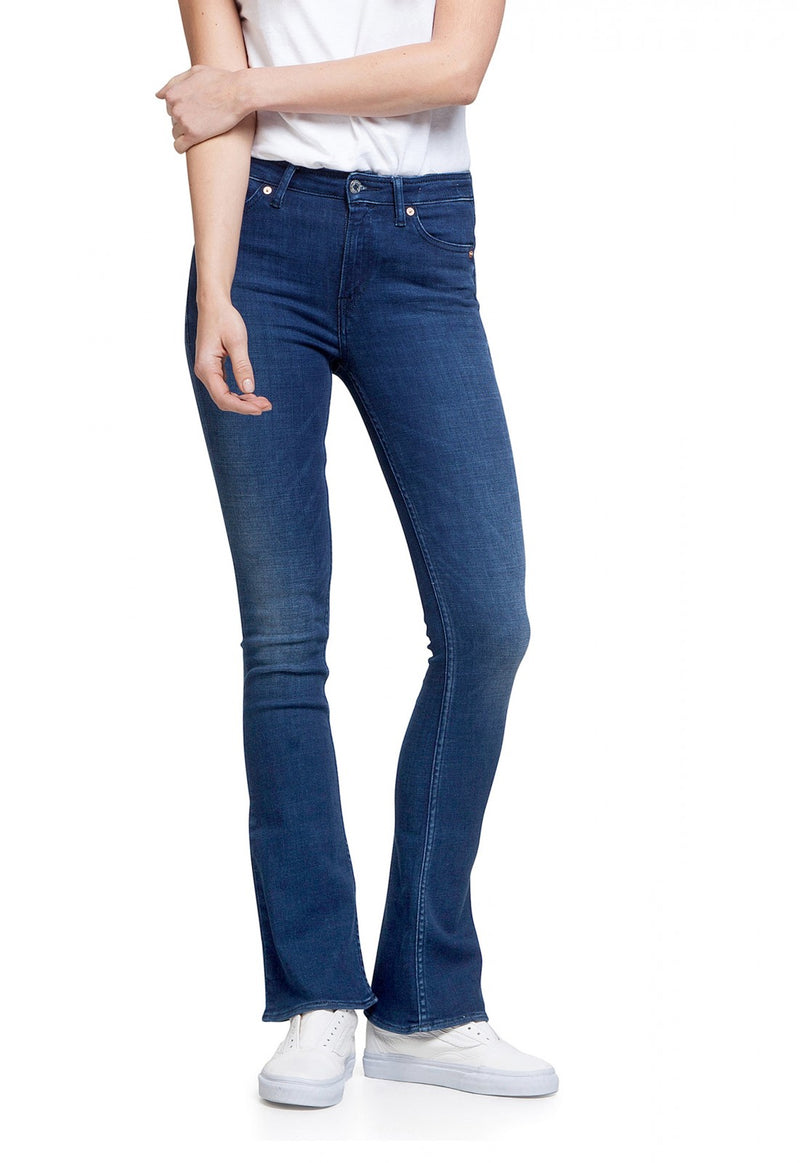 Kings of Indigo Marie high rise flared jeans | Sophie Stone