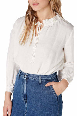 Kings of Indigo Estefany off white blouse | Sophie Stone