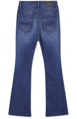 Kings of Indigo Marie high rise flair jeans | Sophie Stone