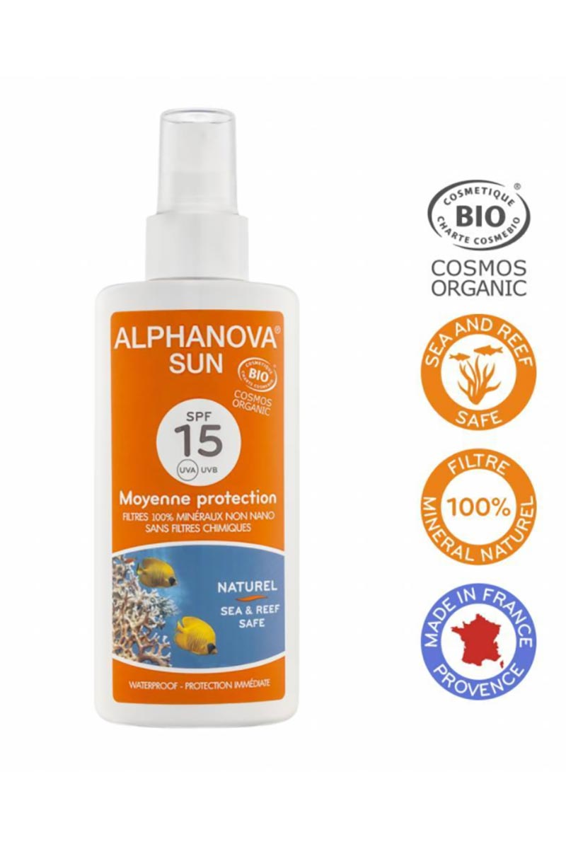 Zonnebrandspray SPF15 bio 125ml