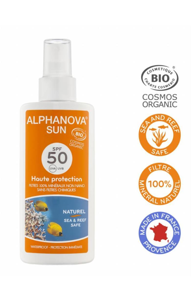 Zonnebrandspray SPF50 bio 125ml