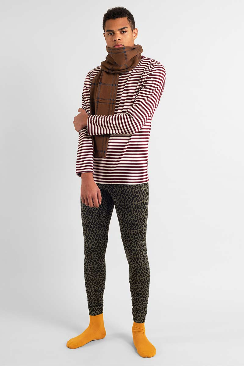 Dedicated Hasle Stripes Burgundy long sleeve | Sophie Stone