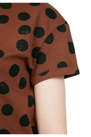 ARMEDANGELS Naalina Big Dots Cacao shirt brown | Sophie Stone